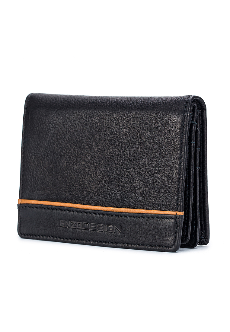 Full Grain Cow Nappa Leather Card Holder With Center Divider