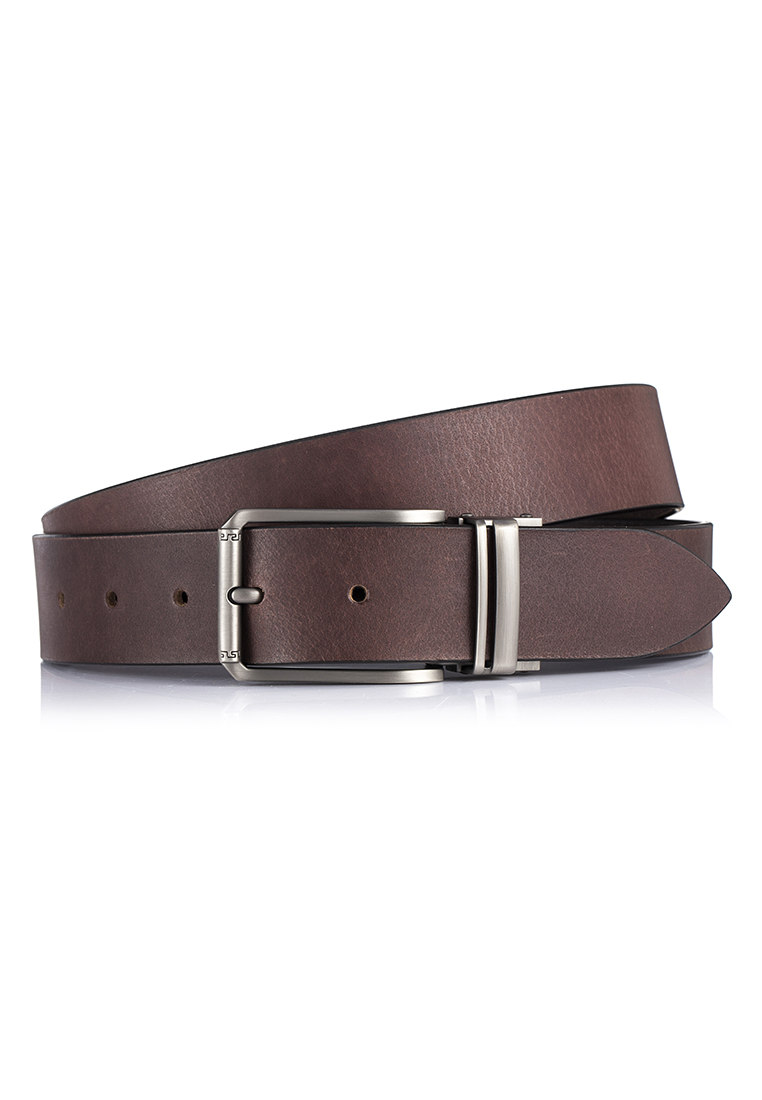 Charcoal Grey Pin Buckle VIntage Buffalo Leather Casual Belt (BT-1907-8115)