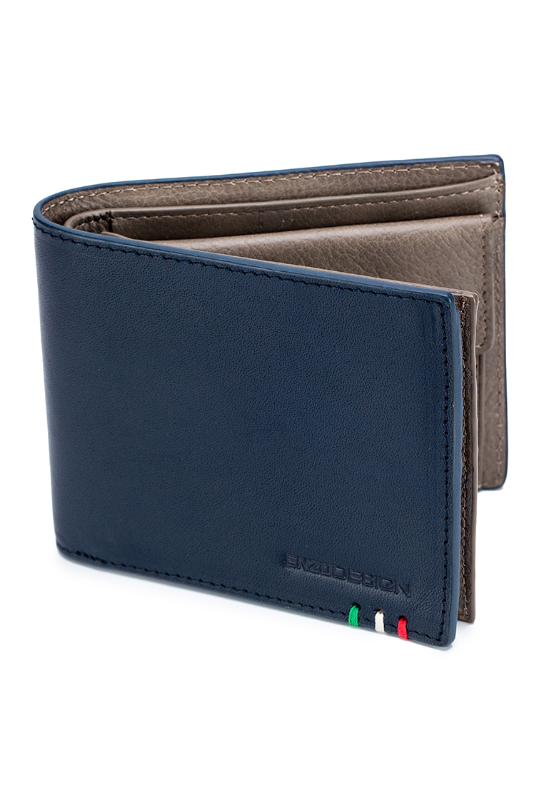 New Design Italian Leather Wallet With Coin Pocket And Snap Compartment