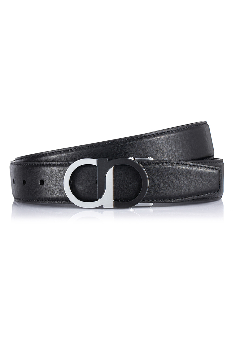 Fine Grain Cow Nappa Leather Two Tone Buckled Belt (BT-1905-FSMB)