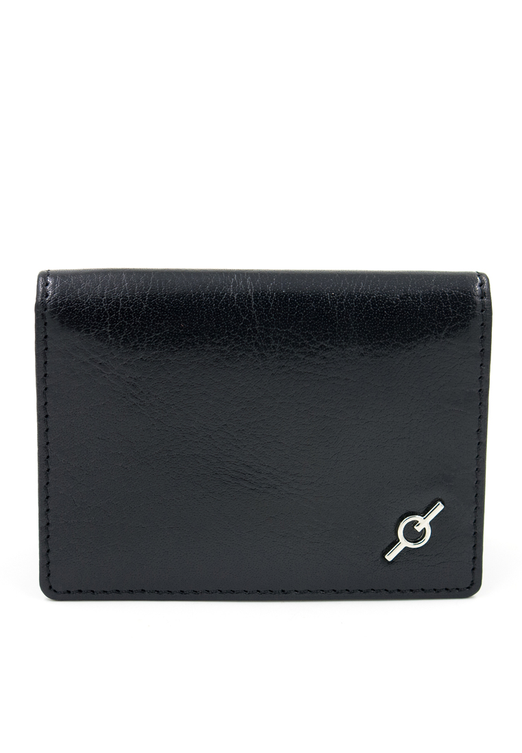 Fine Grained Water Buffalo Leather Card Holder Y-BLK