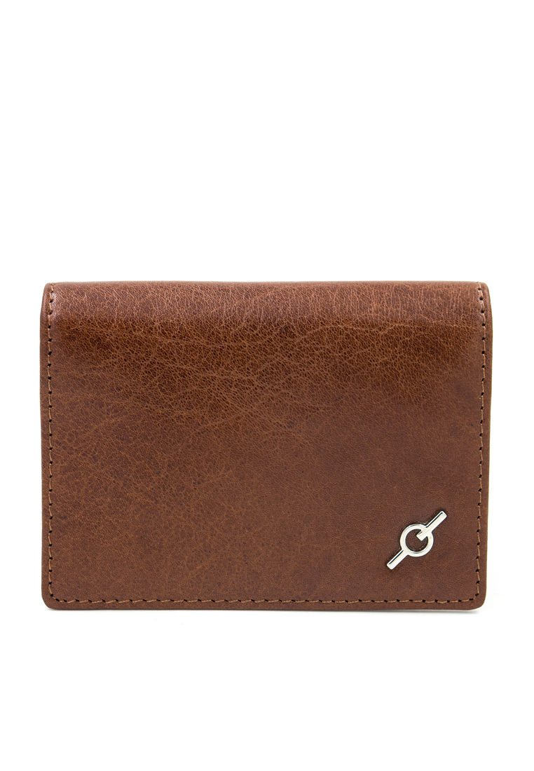 Fine Grained Water Buffalo Leather Card Holder Y-COG