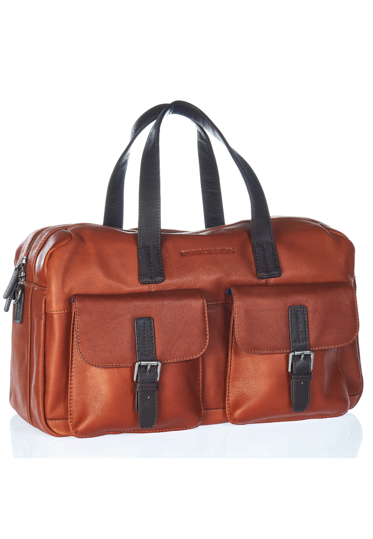 City Pebble Grain Leather Small Duffle Bags