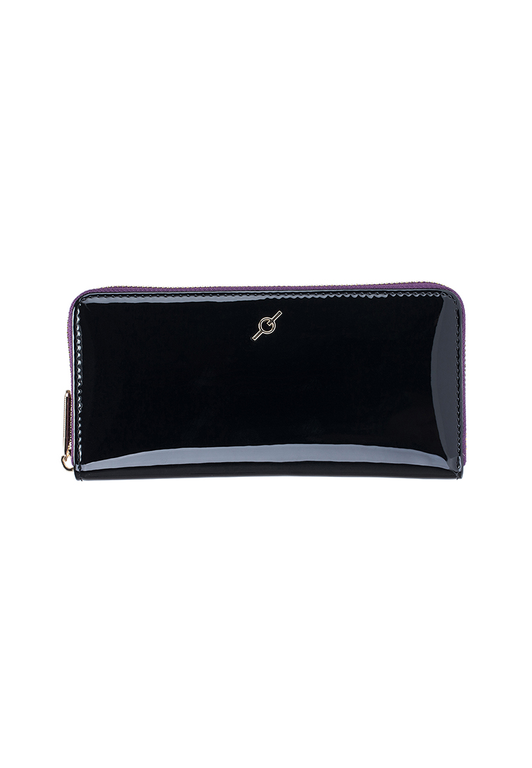 Patent Leather Standard Zip Around Long Wallet