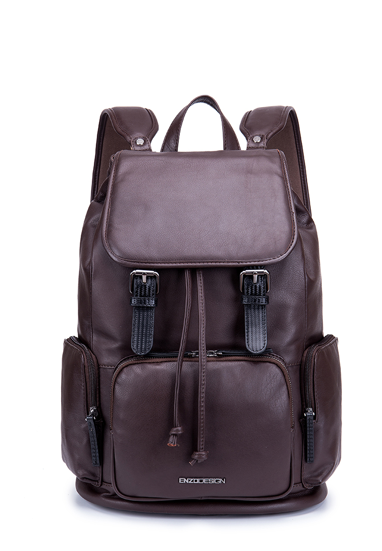 Flap Over Cow Nappa Leather Backpack