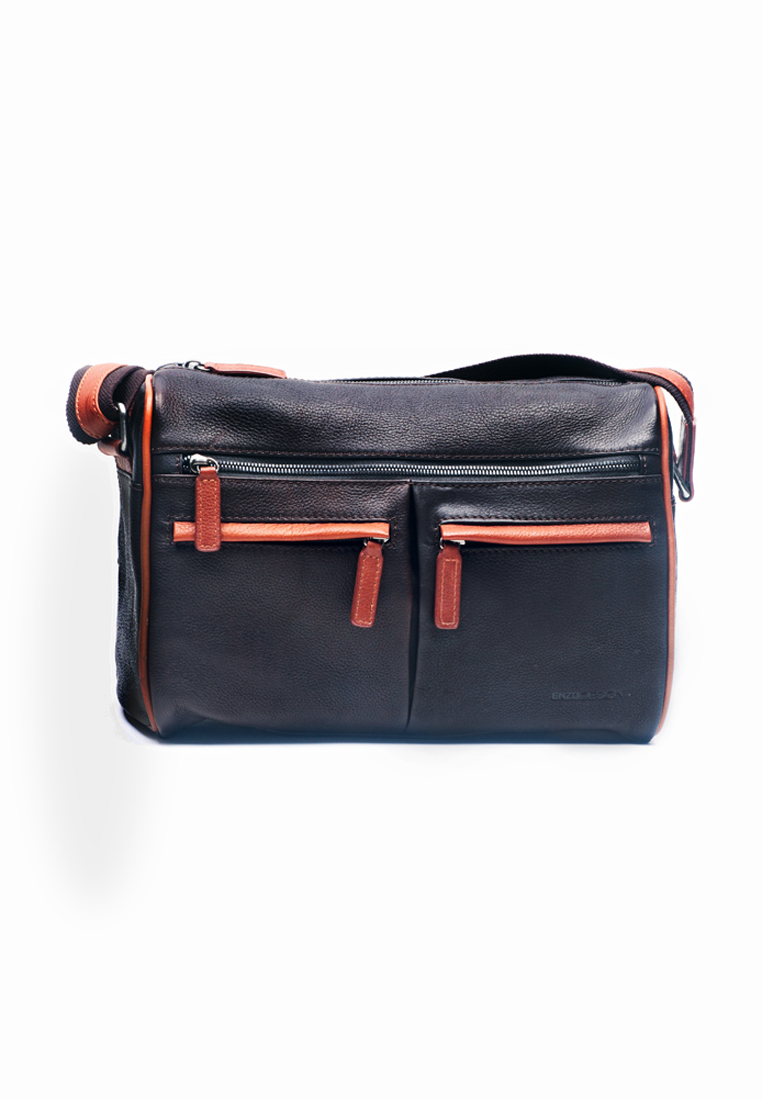 Urban Leather Zip-Top Mini Crossbody Bag