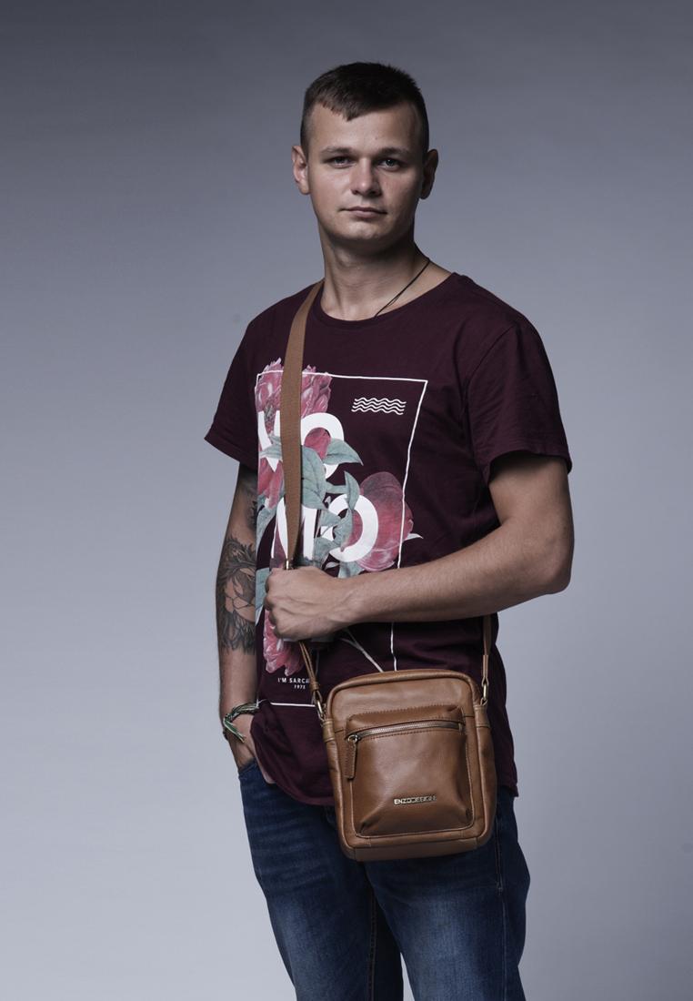 Men's Vintage Small Messenger Leather Bag