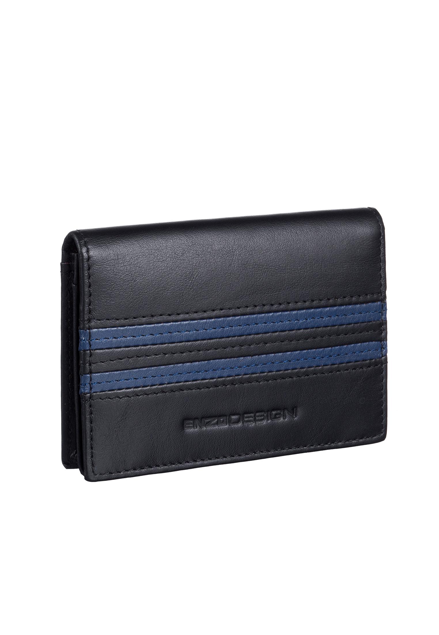 Streetsmart Leather Business Card Holder Y-BLK/BLU